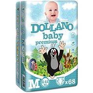 DOLLANO Baby Premium M 68 ks - Dětské pleny