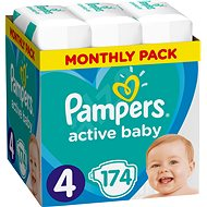 PAMPERS Active Baby-Dry vel. 4 Maxi (174 ks)