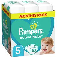PAMPERS Active Baby-Dry vel.5 Junior (150 ks)