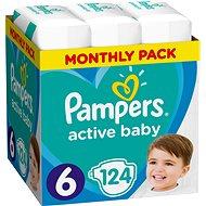 PAMPERS Active Baby-Dry vel. 6 Extra Large (124 ks) - měsíční balení - Dětské pleny
