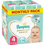 PAMPERS Premium Care veľ. 4 Maxi (168 ks) - mesačné balenie - Detské plienky