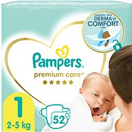 PAMPERS Premium Care vel.  1 (52 ks)