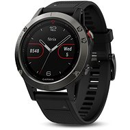 Garmin Fenix 5 Gray Optic Black band - Chytré hodinky