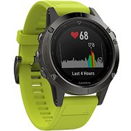 Garmin Fenix 5 Gray Optic Yellow Band - Smart Watch