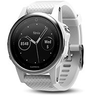 Garmin Fenix 5S Silver Optic White band