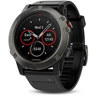 Garmin Fenix 5X Sapphire Gray Optic Black Band - Smartwatch