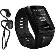 TomTom GPS hodinky Spark 3 Music + Bluetooth slúchadlá (L) čierny