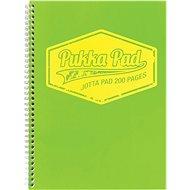 PUKKA PAD Jotta Neon A4 linkovaný, zelený - Blok na psaní