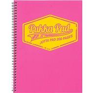 PUKKA PAD Jotta Neon A4 linkovaný, růžový - Blok na psaní