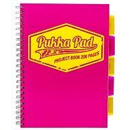 PUKKA PAD Project Book Neon A4 štvorčekový, ružový - Blok na písanie