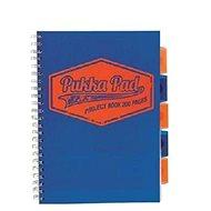 PUKKA PAD Project Book Neon A4 čtverečkovaný, modrý