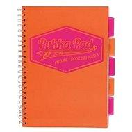 PUKKA PAD Project Book Neon A4 čtverečkovaný, oranžový