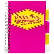 PUKKA PAD Project Book Neon A5 čtverečkovaný, růžový - Blok na psaní