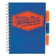 PUKKA PAD Project Book Neon A5 linkovaný, modrý - Blok na psaní