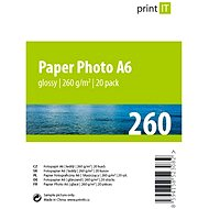 PRINT IT Paper Photo Glossy A6 20 Blätter