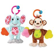 Plush pet with a monkey teether