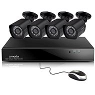 Zmodem 8-channel recorder NVR + 4x 1080P IR IP Camera with PoE 2.Gen