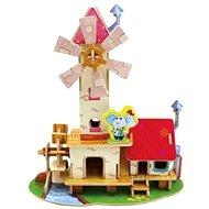 Dřevěné 3D Puzzle - Vodní a větrný mlýn
