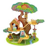 Wooden 3D Puzzle - Little house on a tree with animals