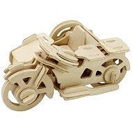 Wooden 3D Puzzle - Motorbike tricycle