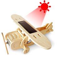 Wooden 3D Puzzle - Solar Eindecker Flugzeug