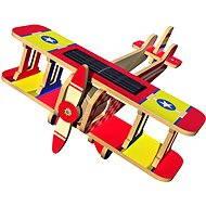 Drevené 3D Puzzle - Solárne lietadlo Dvojplošník farebný