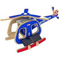 Dřevěné 3D Puzzle - Solární vrtulník barevný - Puzzle
