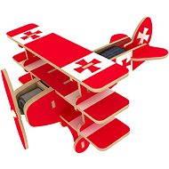 Wooden 3D Puzzle - Solarflugzeug Dreidecker Farbe