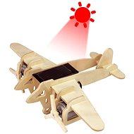 Drevené 3D Puzzle - Vojenské solárne lietadlo Bombardér