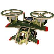 Wooden 3D Puzzle - Militärflugzeuge Avatar Solarfarbe