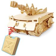 Wooden 3D Puzzle - Tank remote control
