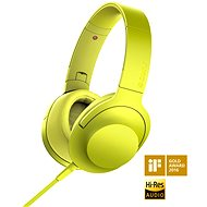 Headphones Hi-Res Sony MDR-100 yellow