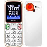 Aligator A320 Senior White Orange Dual SIM - Mobilní telefon