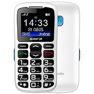 Aligator A430 Senior White Blue + Stolní nabíječka - Mobilní telefon