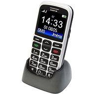 Aligator A680 Senior White + Stolní nabíječka - Mobilní telefon