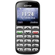 Aligator A870 GPS Senior Grey + Desktop Charger - Mobile Phone