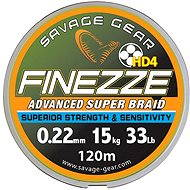 Savage Gear Finezza HD4 Braid 120 m 0.22 mm 33lbs 15 kg Grey