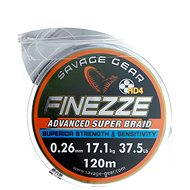 Savage Gear Finezze HD4 Braid 120m 0.26mm 37.5lbs 17.1kg Grey