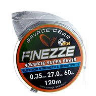 Savage Gear Finezza HD4 Braid 120 m 0,35 mm 60lbs 27 kg Grau