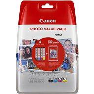 Canon CLI-571 multipack + fotopapír PP-201 - Cartridge