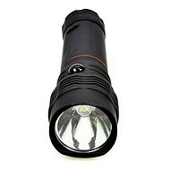 Solight LED svítilna vysouvací, 3W COB + 1W, černá - Baterka