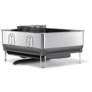 Simplehuman Odkapávač na nádobí, kompaktní ocelový rám, matná ocel/šedý plast, FPP