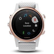 Garmin Fenix 5S Sapphire Rose-Gold mit weißem Armband - Smartwatch
