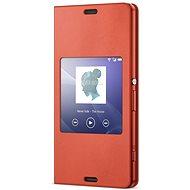Sony flipový kryt SCR26 Smart Orange - Pouzdro na mobilní telefon