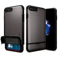 Spigen Flip Armor Gunmetal iPhone 7 Plus - Ochranný kryt