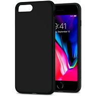 Spigen Liquid Crystal Matte Black iPhone 8 Plus - Ochranný kryt