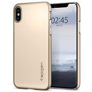 Spigen Thin Fit Gold iPhone X - Ochranný kryt
