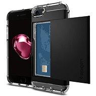 Spigen Crystal Wallet Black iPhone 7 - Ochranný kryt