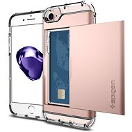 Spigen Crystal Wallet Rose Gold iPhone 7 - Ochranný kryt