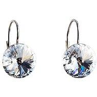Krystal náušnice dekorované krystaly Swarovski 31106.1 (925/1000; 2,2 g)